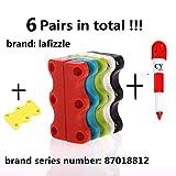 LAFIZZLE 6 PAIRS 6 Color Magnetic Shoe No-tie Shoelaces Closures - Never Tie Laces Again - Adult Size +Cindison Gift