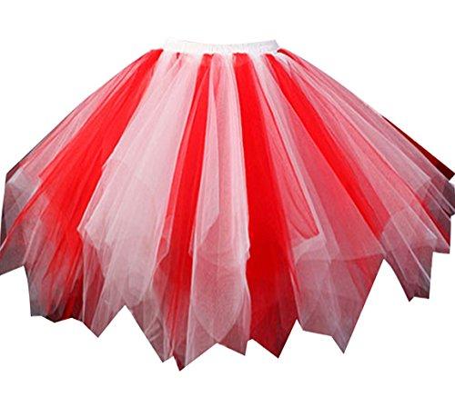 (Loreone Women's Rainbow TuTu Petticoats Crinoline Dance Adult Skirt)