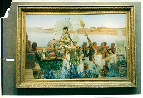 Vintage photo of Lawrence Alma-Tadema and christes paint.