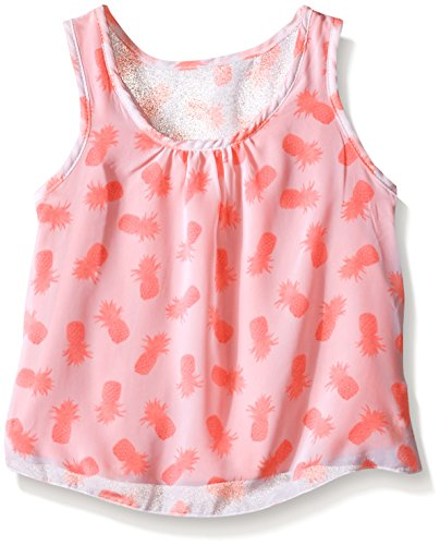 kensie Little Girls' Fashion Tank (More Styles Available), 1304 Neon Orange, 5/6