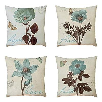 FORUU Throw Pillowcase, Plant Pattern Pillowcase Pillow Case Covers Cushion Sofa Home Car Decor