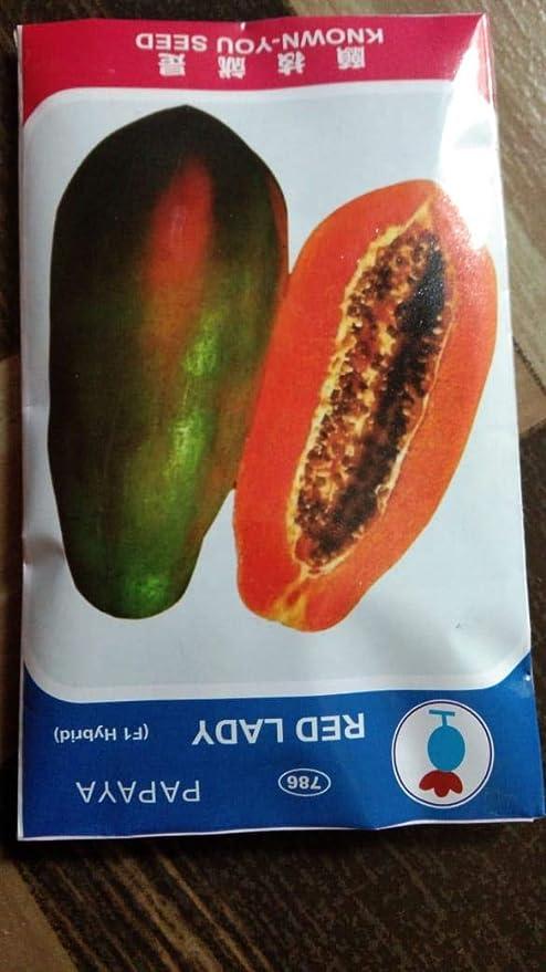 Apna Garden Papaya Red Lady Fruit-F1 Taiwan Hybrid Seeds