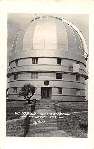 Fort Davis Texas McDonald Observatory Real Photo Antique Postcard J73984