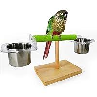 حامل لتدريب الببغاء من بوبيت بوب، حامل قابل للحمل للطيور، مع قاعدة اطباق للطعام، منصة لعب للطيور الصغيرة، ببغاء بودجي…