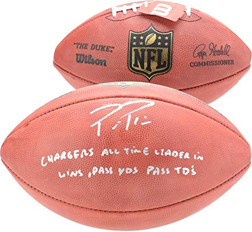 Philip Rivers Los Angeles Chargers Autographed Duke Football with Multiple Inscriptions - Limited Edition of 17 - Fanatics Authentic Certified