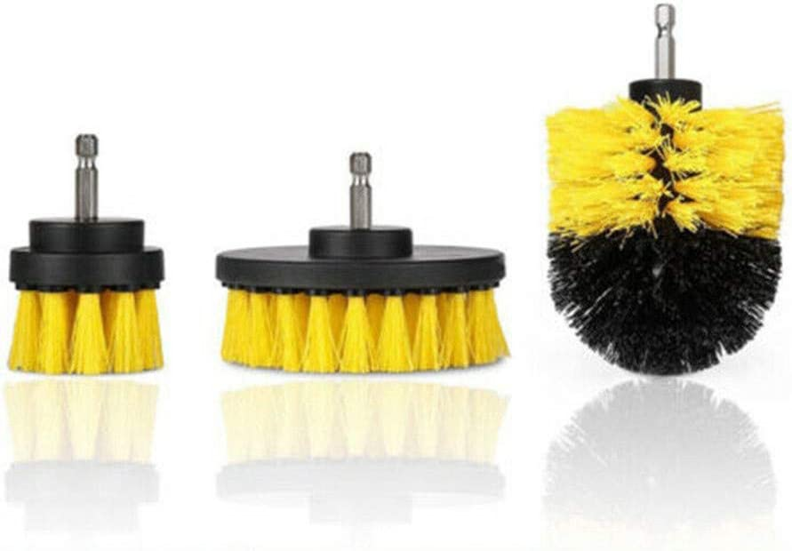 Perceuse Brosse Yefun 3 pi/èces//set Scrubber Brosse de nettoyage /électrique /& Power Scrubbing Brush pour tapis de Terrasse Terrasse Carrelage Salle de Bain Nettoyage Nettoyant