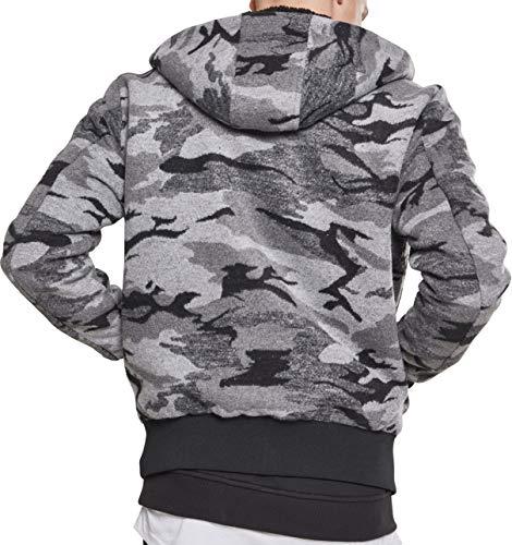 00707 Classics darkcamo Uomo Mehrfarbig Jacket Urban Camo Zip Cappotto Hq81z