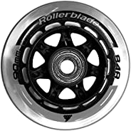 Rollerblade Wheelkit 90mm 84A, SG9 Bearings, 8 Pack, Clear, US Unisex ST