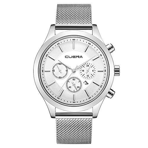- Zainafacai Mens Watches Fashion Leather Analog Quartz Watch Men Sport Waterproof Chronograph Luxury