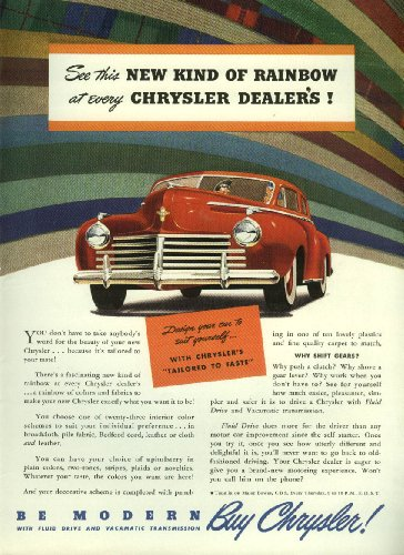 See this new kind of Rainbow at every Chrysler Dealer's ad - Dealer Chrysler