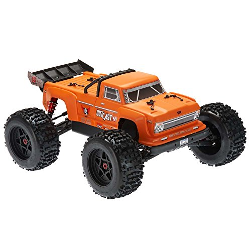 Rtr Esc Electric Rc Truck (ARRMA OUTCAST 1:8 Scale BLX Brushless 4WD RTR Electric RC Stunt Truck (6S LiPo Battery Required), Orange)
