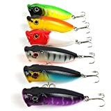 6pcs/lot Popper Lure 6 colors top water lure 6.6cm /11.9g fishing lures with 6# hooks fishing tackle fishing bait