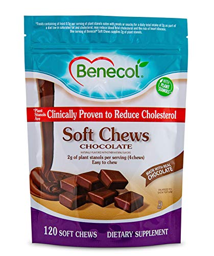 Benecol® Soft Chews - Dietary Supplement Made with Cholesterol-Lowering Plant Stanols, which are Clinically Proven to Reduce Total & LDL Cholesterol (120 Chocolate Chews) (Best Way To Lower Ldl)