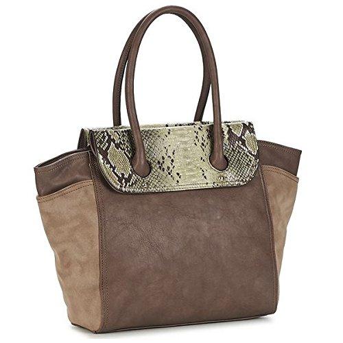 Damen Shopper Bag-AMAZONE MT5K8I7622 Lederoptik, Taupe Thierry Mugler