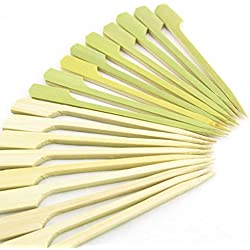 "BambooMN 4.5"" Bamboo Paddle Cocktail Fruit Sandwich Food Picks Skewers for Catered Events, Holiday's, Restaurants or Buffets Party Supplies, 1000 Pieces"