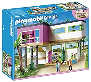 Playmobil modern luxury mansion play set toys for Playmobil modernes haus 9266
