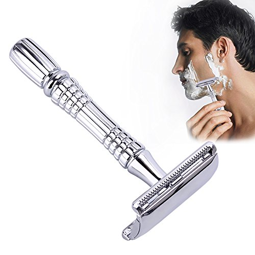 Saengthong Safety Double Edge Razor for Men Shaving Set Knife Barber Straight Razor Men's Adjustable Shaving Razor Blades Shaving Machine from Saengthong