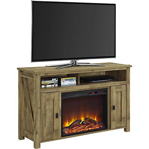 "Ameriwood Home Electric Fireplace, TV Console, TV Farmington (50"" Natural)"