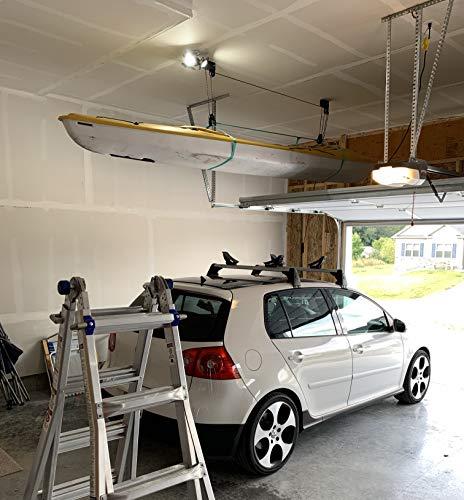 StoreYourBoard Kayak Ceiling Storage Hoist | Hi-Lift Home & Garage Hanging Pulley Rack (Pro)