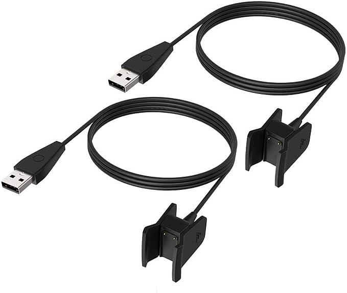 nero per FitBit Alta HR con la funzione di reset Cavo di ricarica USB