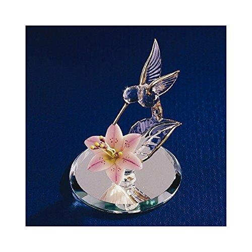 Hummingbird & Lily Glass Figurine - Hummingbird Italian Charm