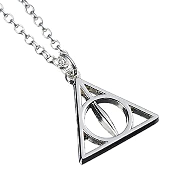 Official Sterling Silver Harry Potter Jewellery Deathly Hallows Necklace 8WVtpP