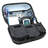 Diabetic Supplies Travel Case Organizer for Blood Glucose Monitoring Systems , Syringes , Pens , Insulin Vials & Lancets by USA Gear - ACCU-CHEK Nano , Bayer Contour , TRUEtest and More - Polka Dot