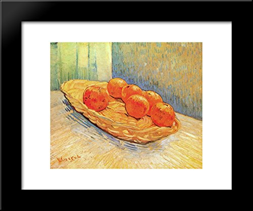 Still Life with Basket and Six Oranges 20x24 Framed Art Print by Vincent van Gogh