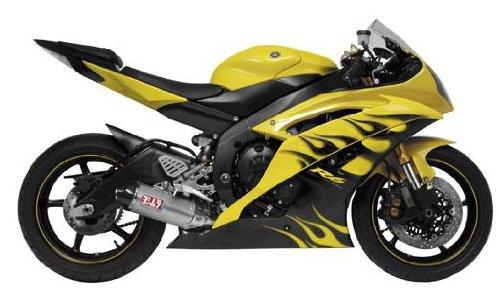 (Yoshimura TRC Carbon Fiber Tri-Oval Complete Exhaust System - Kawasaki Ninja 250R 2008-2011)
