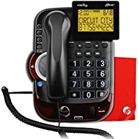 Clarity Alto Plus Severe Hearing Loss Amplified Corded Phone With Circuit City Microfiber Cleaning Cloth