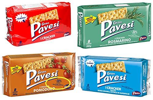 Gran Pavesi I Crackers From Italy Mix Salati, Rosmarino, Pomodoro and Classic