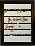 Earring Holder - Holds 100 pair - Made with a 10''x13'' Picture Frame - Wall Mounted - Available in 4 Colors – Black
