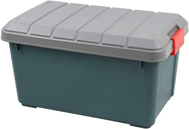 Caja de almacenamiento del maletero del coche, Organizador del cajón del maletero for el coche Caja del organizador de la tapa del maletero de plástico for comestibles de viaje Deportes Hogar Tailgati: