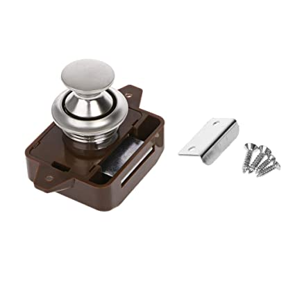 Camper Car Push Lock Rv Caravan Boat Motor Home Cabinet Drawer Latch Button Locks For Furniture Hardware Automobiles & Motorcycles Rv Parts & Accessories