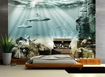 Fototapete küchenmotive  Vliestapete Unterwasser Schatz VT20 Größe:400x280cm, Fototapete ...