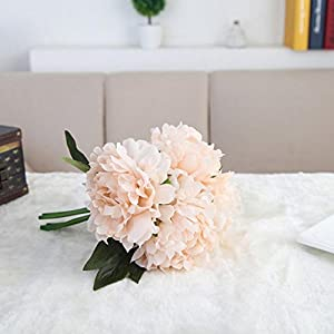 YJYdada Artificial Silk Fake Flowers Peony Floral Wedding Bouquet Bridal Hydrangea Decor (Pink) 78