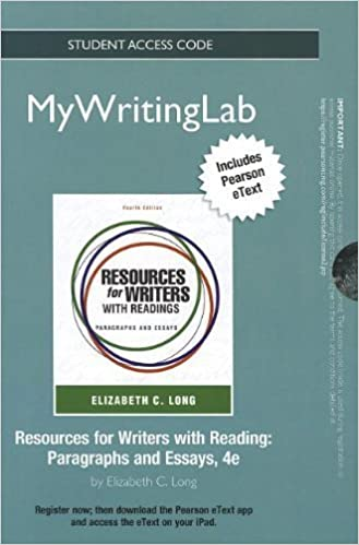 Amazon. Com: resources for writers with readings (4th edition.