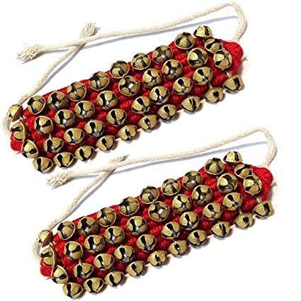 Ghungroo Red Pad 4 Line, Ghungru 4 Line Red Pad, Red Pad Ghungroo 4 Line Ghungroo Kathak anklet women dance accessories