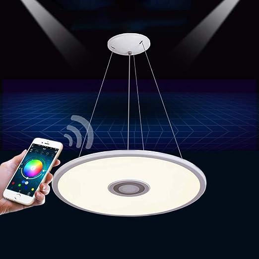 LED con de música Bluetooth remoto3000lm Lámpara control WHIE29D