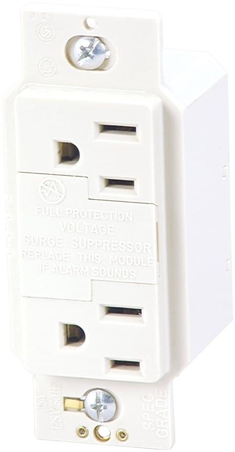 Amazon.com: Cooper Wiring Devices 1208W SurgeBloc Surge Protection ...