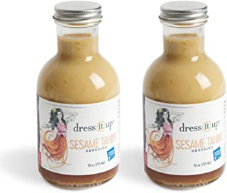 product image for Dress It Up Dressing - Sesame Tahini Salad Dressing and Marinade | Gluten Free, Vegan, Non GMO, Creamy, and Low Sodium | Paleo and Vegan Friendly | 2pk- 10oz Bottles