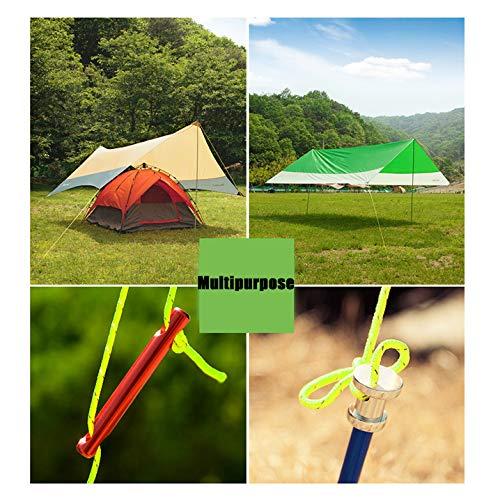 Huiit 5mm 10 Meter im Freien voll leuchtendes und reflektierendes Seil Campingseil festes winddichtes Zeltseil