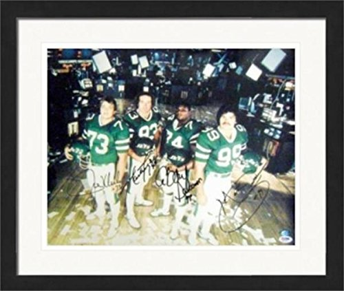 Mark Gastineau, Abdul Salaam, Joe Klecko, Marty Lyons The Sack Exchange New York Jets autographed 16x20 photo (PSA Authenticated) #2 Matted & (Lyon Framed)