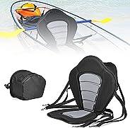 Kayak Canoe Seat Cushion, Universal Deluxe Non-Slip EVA Padded Seat Kayak, Comfortable Kayak Seat Backrest wit