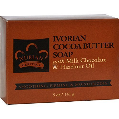 Nubian Heritage Ivorian Cocoa Butter Soap 5 Oz X 6 Bars