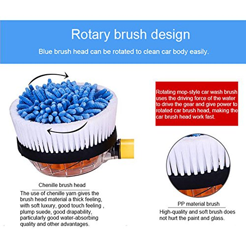 JSCARLIFE Car Auto Rotation Cleaning Brush for Car and Truck 4350471001