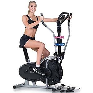 Powertrain 5-in-1 Elliptical cross trainer bike with Dumbbell Sets