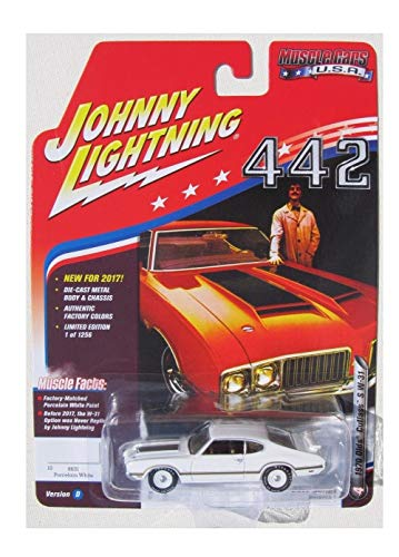 Johnny Lighting 442 1970 Olds Cutlass 2017 Limited Edition 1 of 1256 Factory Match Porcelain White Paint