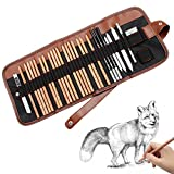 Caroyla Sketch Pencil Drawing Pencil Set, 29-piece Sketching Art Kit for Beginners - Sketch/ Graphite Pencils, Erasers Craft Knife Pencil Extender for Students, Kids & Adults