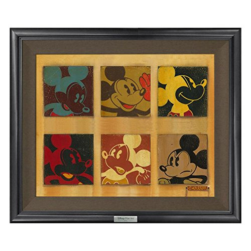 '6 Up Mickey' Framed Limited Edition Canvas by Trevor Carlton from the Disney Silver Series; with COA 6 Up Mickey Framed Limited Edition Canvas by Trevor Carlton from the Disney Silver Series; with COA